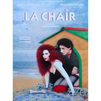 THE FLESH Original Movie Poster - 15x21 in. - 1991 - Marco Ferreri, Sergio Castellitto