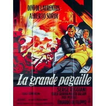 LA GRANDE PAGAILLE Affiche de film - 120x160 cm. - 1960 - Alberto Sordi, Luigi Comencini