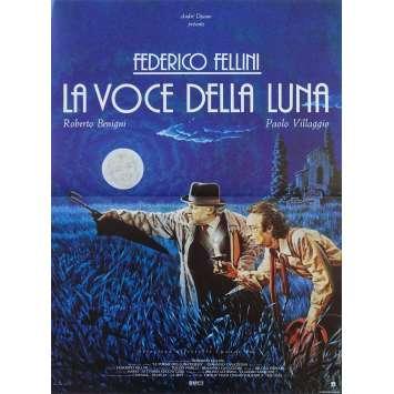 LA VOCE DELLA LUNA Affiche de film - 40x60 cm. - 1990 - Roberto Benigni, Federico Fellini