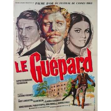 LE GUEPARD Affiche de film - 60x80 cm. - 1963 - Alain Delon, Luchino Visconti