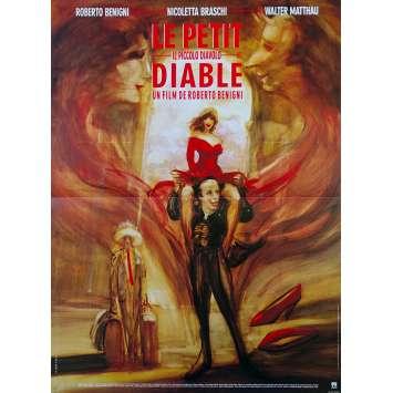 THE LITTLE DEVIL Original Movie Poster - 15x21 in. - 1988 - Roberto Benigni, Stefania Sandrelli