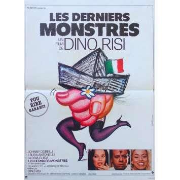 LES DERNIERS MONSTRES Affiche de film - 40x60 cm. - 1982 - Laura Antonelli, Gloria Guida, Dino Risi