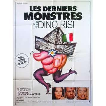 LES DERNIERS MONSTRES Affiche de film - 120x160 cm. - 1982 - Laura Antonelli, Gloria Guida, Dino Risi