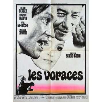 LES VORACES Affiche de film - 60x80 cm. - 1973 - Françoise Fabian, Paul Meurisse, Sergio Gobbi