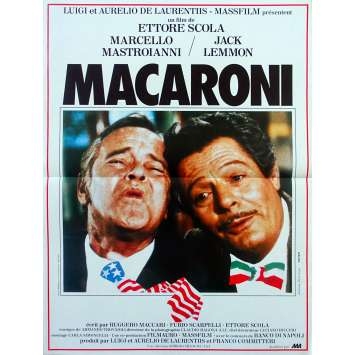 MACARONI Original Movie Poster - 15x21 in. - 1985 - Ettore Scola, Marcello Mastroianni, Jack Lemmon