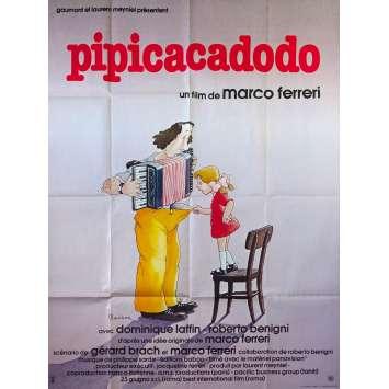 PIPICACADODO Affiche de film - 120x160 cm. - 1979 - Roberto Benigni, Marco Ferreri