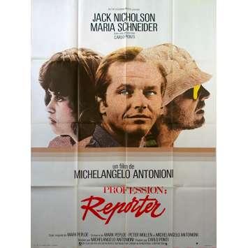 PROFESSION REPORTER Affiche de film - 120x160 cm. - 1975 - Jack Nicholson, Michelangelo Antonioni