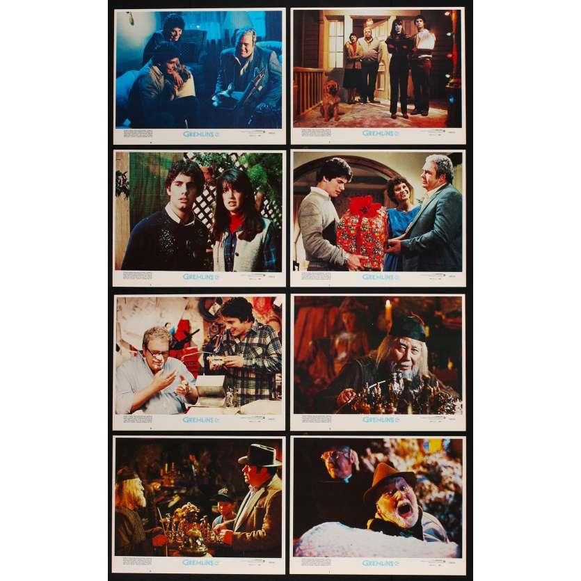 GREMLINS Photos de film x8 28x36 - 1984 - Zach Gallaghan, Joe Dante
