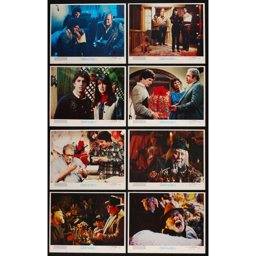 GREMLINS US Lobby cards 11x14 - 1984 - Joe Dante, Zach Gallaghan -
