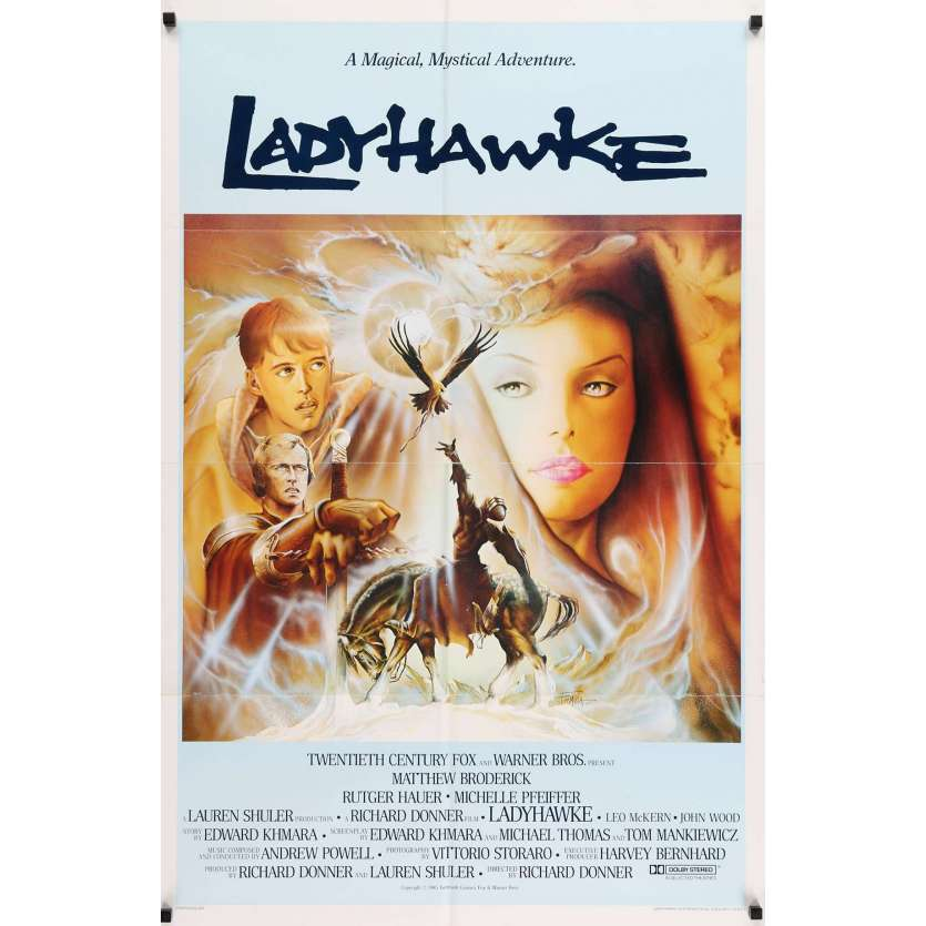 LADYHAWKE int' US Movie Poster 29x41 - 1985 - Richard Donner, Michelle Pfeiffer