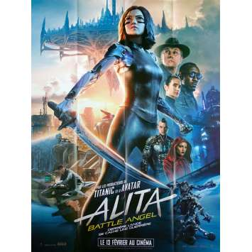 ALITA BATTLE ANGEL Original Movie Poster - 47x63 in. - 2019 - Robert Rodriguez, Christoph Waltz