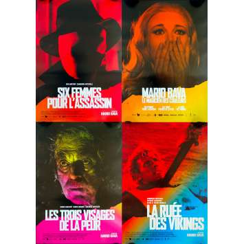 MARIO BAVA FESTIVAL Original Movie Poster lot x4 - 15x21 in. - 2018 - Mario Bava, Barbara Steele