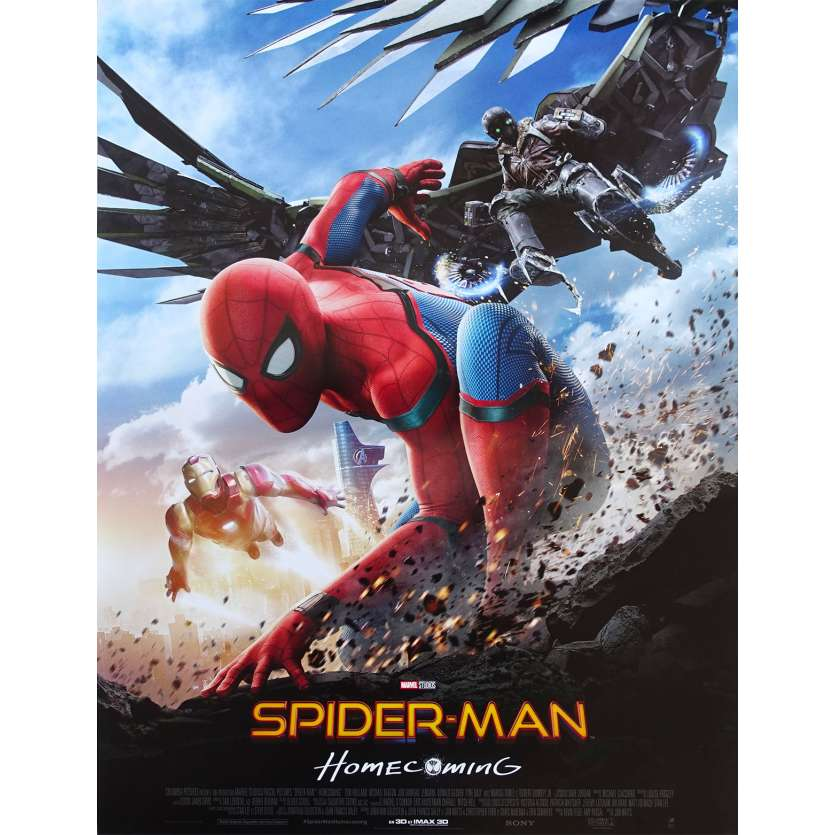 SPIDER-MAN HOMECOMING Original Movie Poster - 15x21 in. - 2017 - Jon Watts, Tom Holland