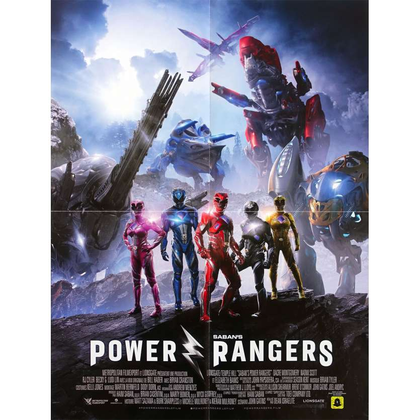POWER RANGERS Original Movie Poster Style A - 15x21 in. - 2017 - Dean Israelite, Dacre Montgomery
