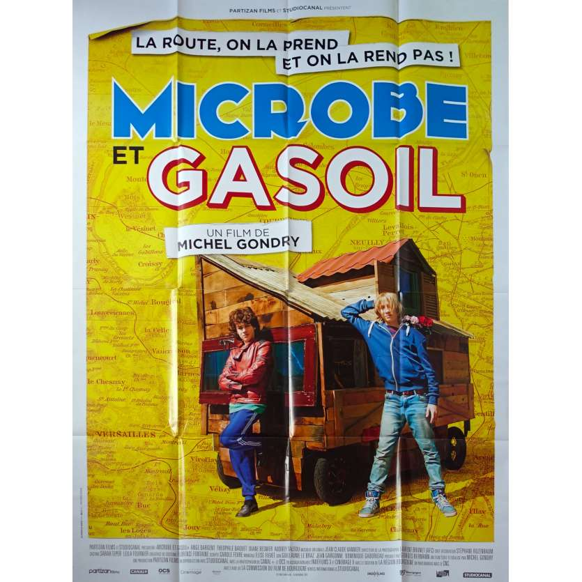 MICROBE AND GASOLINE Original Movie Poster - 47x63 in. - 2015 - Michel Gondry, Ange Dargent