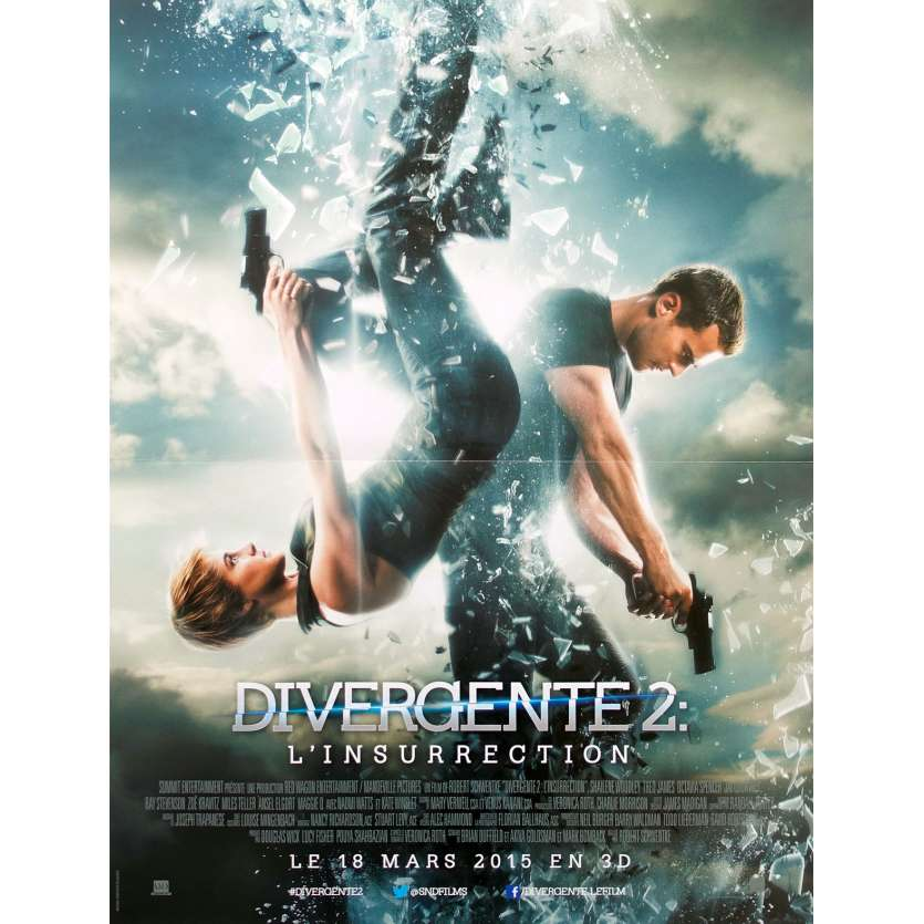 INSURGENT Original Movie Poster - 15x21 in. - 2015 - Robert Schwentke, Shailene Woodley