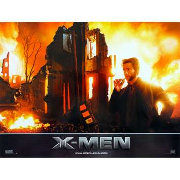 X-MEN Original Lobby Card N02 - 9x12 in. - 2000 - Bryan Singer, Hugh Jackman