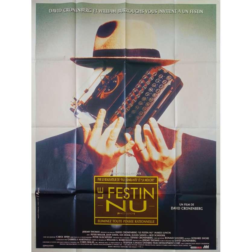 LE FESTIN NU Affiche de film - 120x160 cm. - 1991 - Peter Weller, david Cronenberg