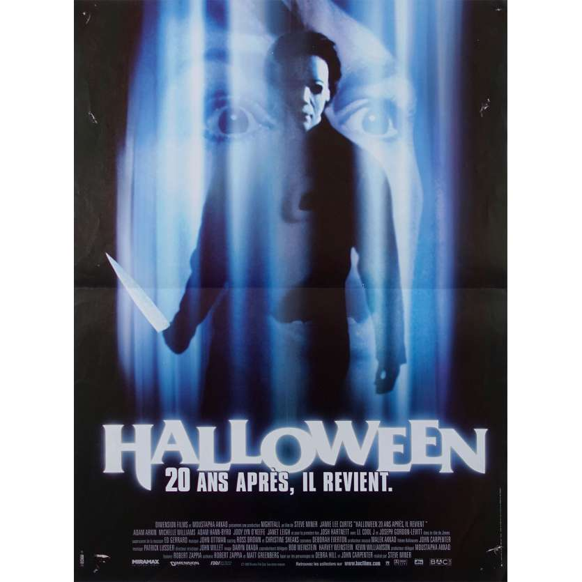 HALLOWEEN H20: 20 YEARS LATER Original Movie Poster - 15x21 in. - 1998 - Steve Miner, Jamie Lee Curtis
