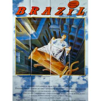 BRAZIL Original Movie Poster - 47x63 in. - R1990 - Terry Gilliam, Jonathan Pryce