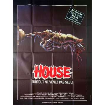 HOUSE Original Movie Poster - 47x63 in. - 1984 - Steve Miner, William Katt
