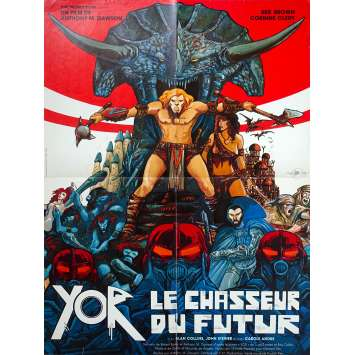 YOR THE HUNTER FROM THE FUTURE Original Movie Poster - 23x32 in. - 1983 - Antonio Margheriti, Reb Brown