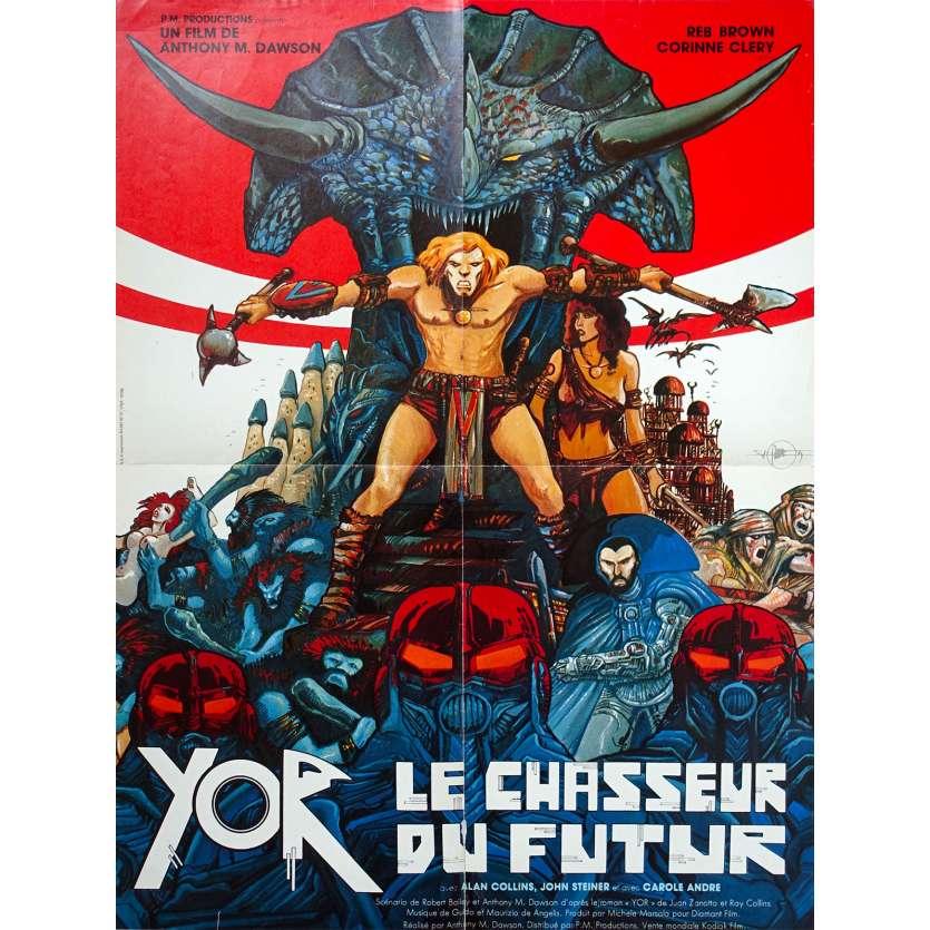 YOR THE HUNTER FROM THE FUTURE Original Movie Poster - 23x32 in. - 1983 - Antonio Margheriti, Reb Brown