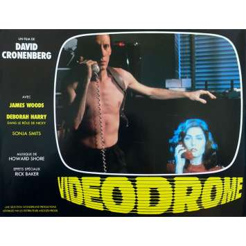 VIDEODROME Original Lobby Card N01 - 9x12 in. - 1983 - David Cronenberg, James Woods