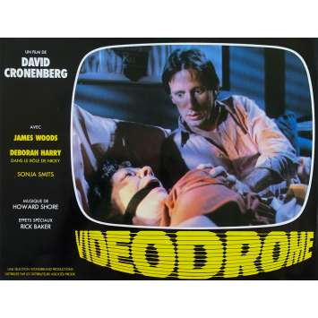 VIDEODROME Original Lobby Card N11 - 9x12 in. - 1983 - David Cronenberg, James Woods