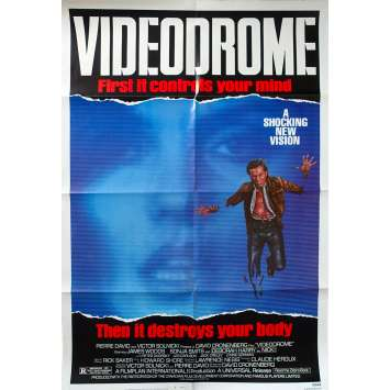 VIDEODROME Original Movie Poster - 27x40 in. - 1983 - David Cronenberg, James Woods