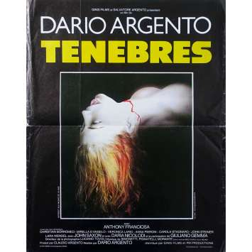TENEBRE Original Movie Poster - 15x21 in. - 1982 - Dario Argento, John Saxon