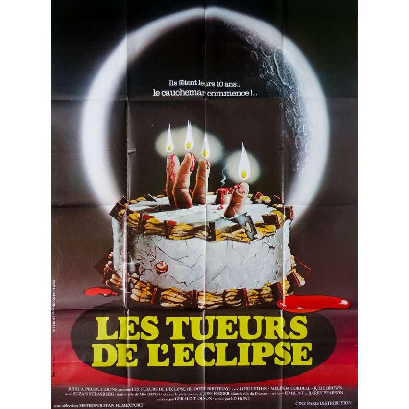 BLOODY BIRTHDAY Original Movie Poster - 47x63 in. - 1981 - Ed Hunt, Lori Lethin