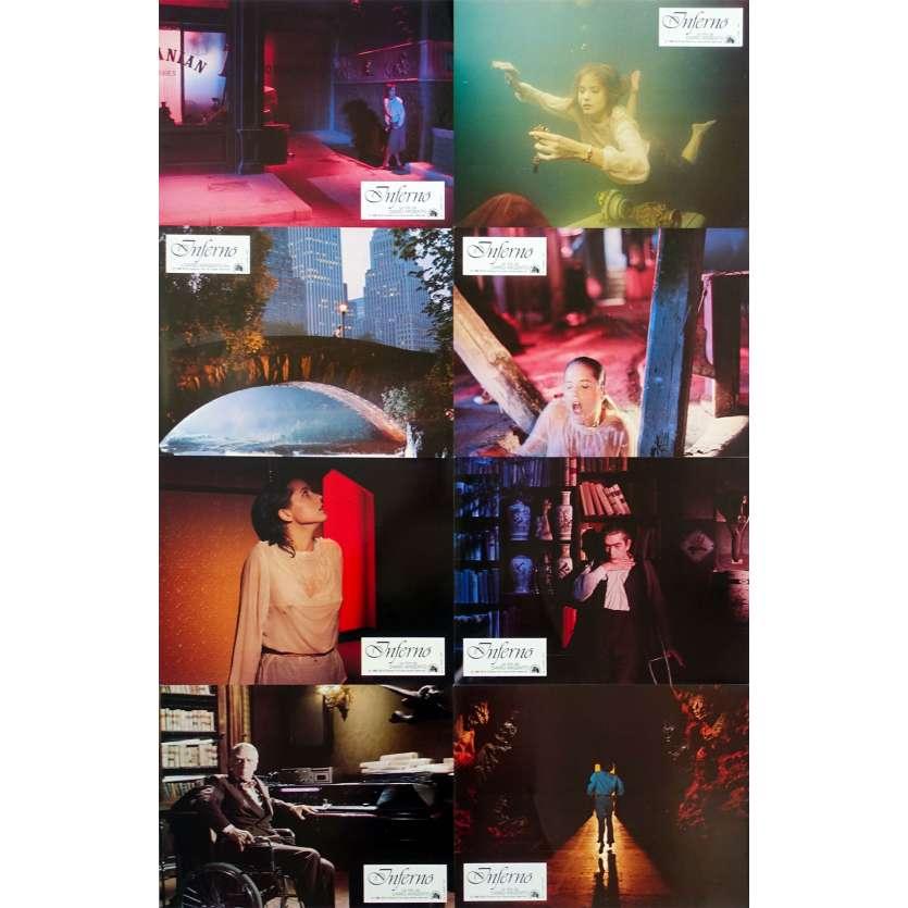 INFERNO Original Lobby Cards x8 - 9x12 in. - 1980 - Dario Argento, Daria Nicolodi