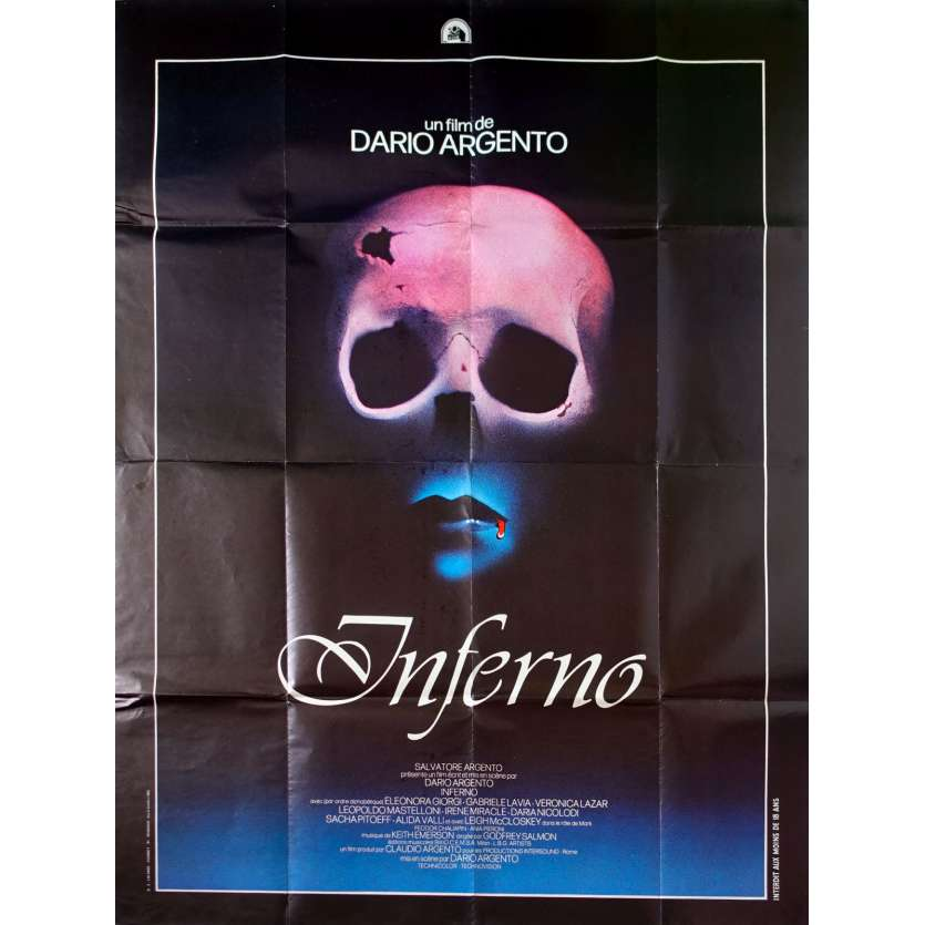 INFERNO Original Movie Poster - 47x63 in. - 1980 - Dario Argento, Daria Nicolodi
