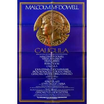 CALIGULA Affiche de film - 69x102 cm. - 1979 - Malcom McDowell, Tinto Brass