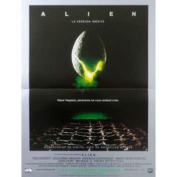 ALIEN Original Movie Poster - 15x21 in. - R1990 - Ridley Scott, Sigourney Weaver