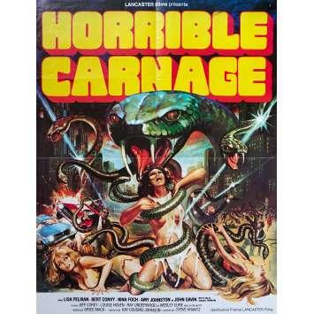 HORRIBLE CARNAGE Affiche de film - 60x80 cm. - 1978 - Lisa Pelikan, Brice Mack