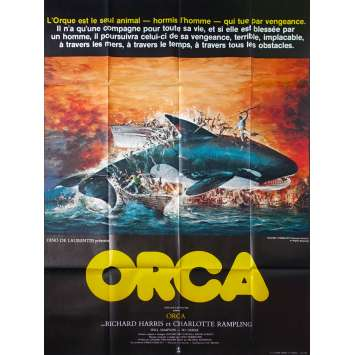 ORCA Original Movie Poster - 47x63 in. - 1977 - Michael Anderson, Richard Harris