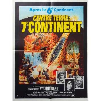 CENTRE TERRE SEPTIEME CONTINENT Affiche de film - 60x80 cm. - 1976 - Peter Cushing, Caroline Munro, Kevin Connor