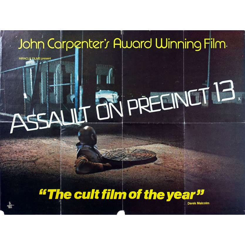 ASSAULT ON PRECINCT 13 Original Movie Poster - 30x40 in. - 1976 - John Carpenter, Austin Stoker