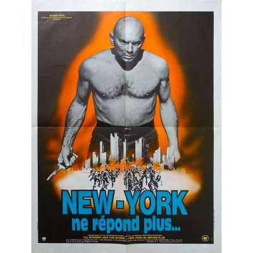 NEW YORK NE REPOND PLUS Affiche de film - 60x80 cm. - 1975 - Yul Brynner, Robert Clouse