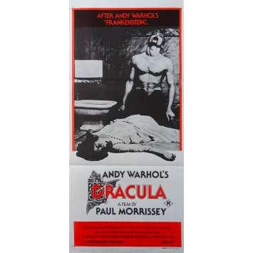 DU SANG POUR DRACULA Affiche de film - 33x78 cm. - 1974 - Andy Warhol, Paul Morrissey