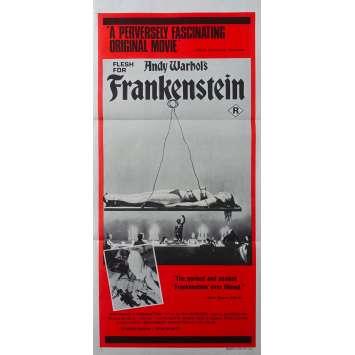 CHAIR POUR FRANKENSTEIN Affiche de film - 33x78 cm. - 1973 - Warhol, Udo Kier, Paul Morrissey
