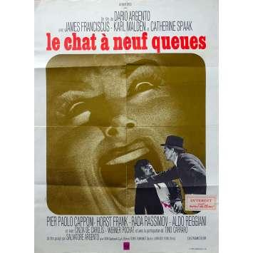 THE CAT O'NINE TAILS Original Movie Poster - 23x32 in. - 1971 - Dario Argento, James Franciscus