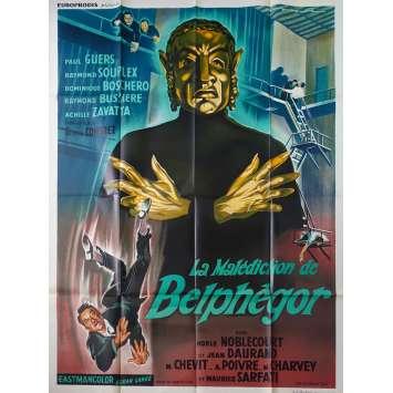 LA MALEDICTION DE BELPHEGOR Affiche de film - 120x160 cm. - 1967 - Paul Guers, Georges Combret