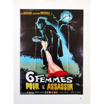 6 FEMMES POUR L'ASSASSIN Synopsis - 21x30 cm. - R1970 - Cameron Mitchell, Mario Bava