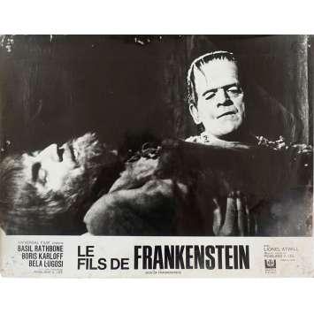 SON OF FRANKENSTEIN Original Lobby Card N01 - 10x12 in. - R1960 - Rowland V. Lee, Boris Karloff, Bela Lugosi