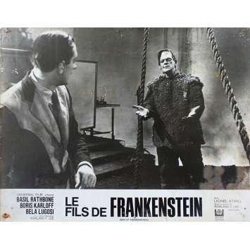 SON OF FRANKENSTEIN Original Lobby Card N02 - 10x12 in. - R1960 - Rowland V. Lee, Boris Karloff, Bela Lugosi