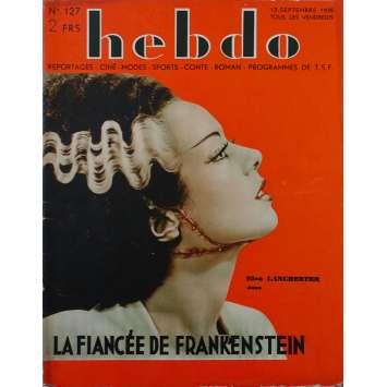 HEBDO : THE BRIDE OF FRANKENSTEIN Original Magazine - 10x12 in. - 1934 - James Whale, Boris Karloff