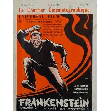THE CINEMATOGRAPHIC MAIL : FRANKENSTEIN Original Magazine - 10x12 in. - 1932 - James Whale, Boris Karloff